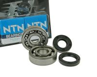 crankshaft bearings Naraku heavy duty left and right incl. oil seals for Minarelli AM