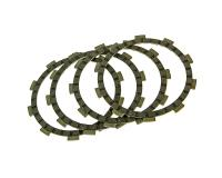 clutch plates - set of 4 pcs for Minarelli AM, Generic, KSR-Moto, Keeway, Motobi, Ride, CPI, 1E40MA, 1E40MB