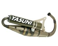 exhaust Yasuni Scooter Z yellow carbon for Minarelli vertical