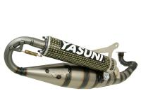 exhaust Yasuni Carrera 16/07 yellow carbon for Minarelli horiz.