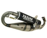 exhaust Yasuni Carrera 16 black for Piaggio