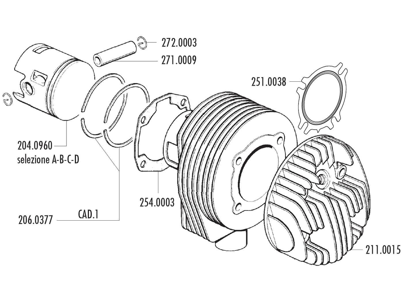 Cylinder Kit Polini Aluminum Racing 187cc 63mm 125 150cc For Vespa Wiring Diagram Px Ts