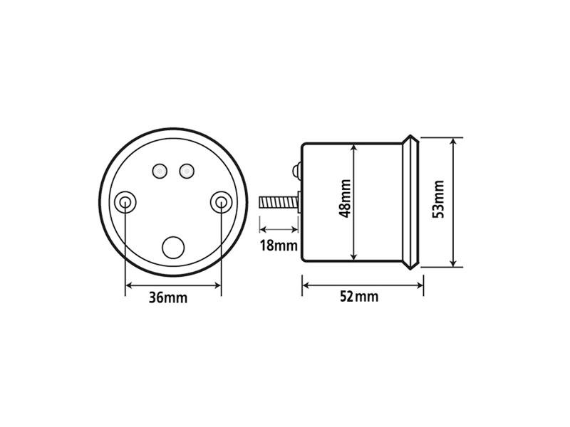 rev counter Koso Chrome Style D48 Tachometer max 15000 rpm