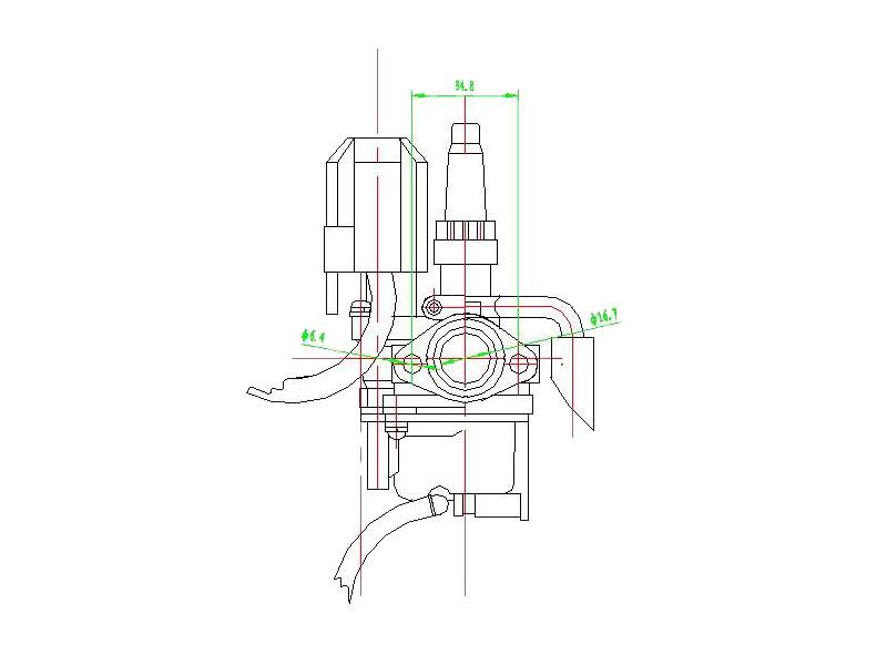 carburetor for Peugeot Speedfight 2 50 AC DT S1B0KA