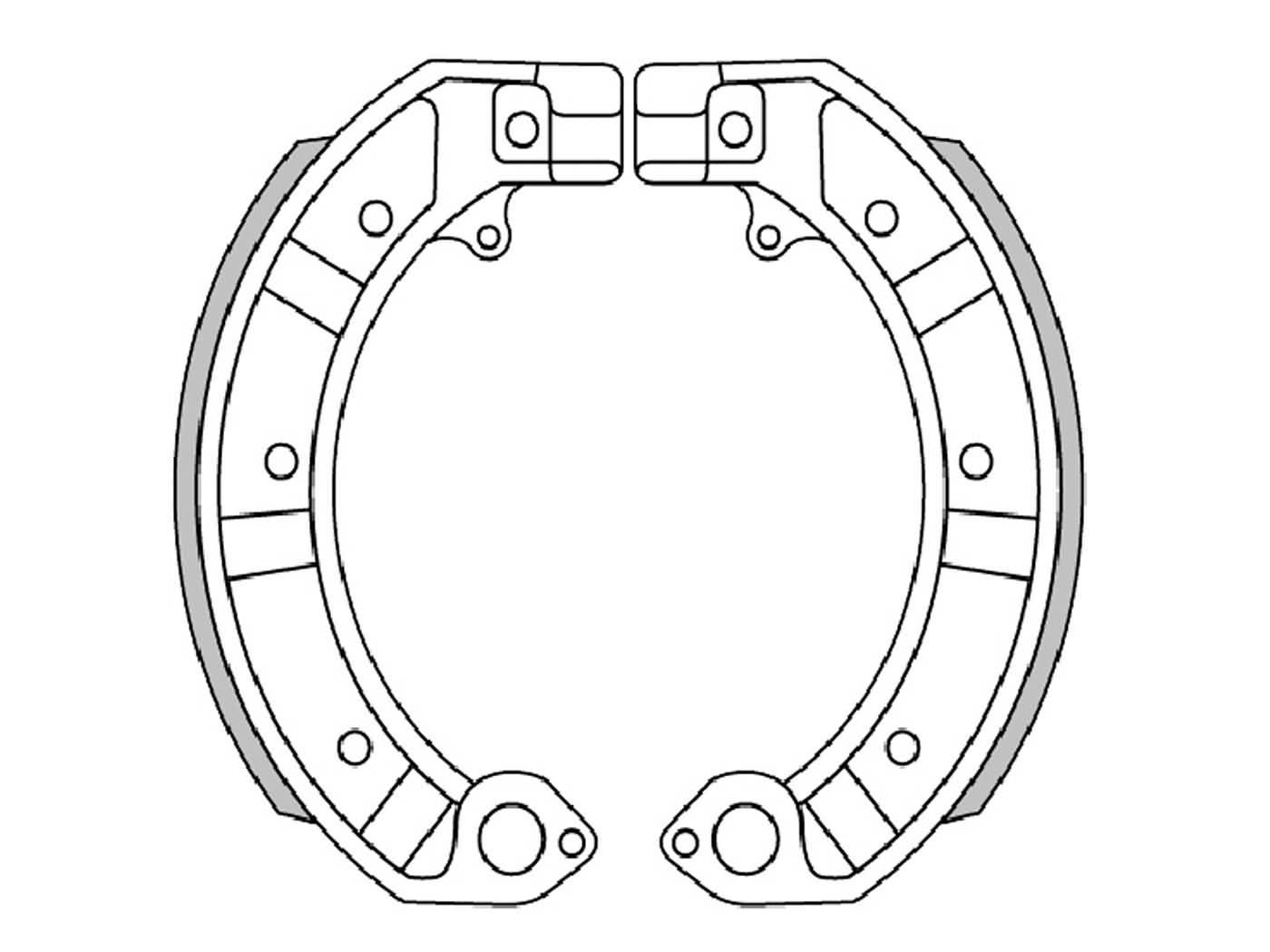brake shoe set Polini 150x24mm for drum brake for Vespa PK