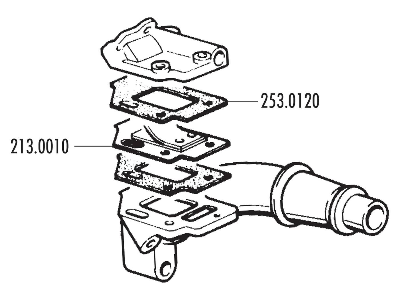 intake manifold Polini dual intake 24/28.5mm for Vespa 50