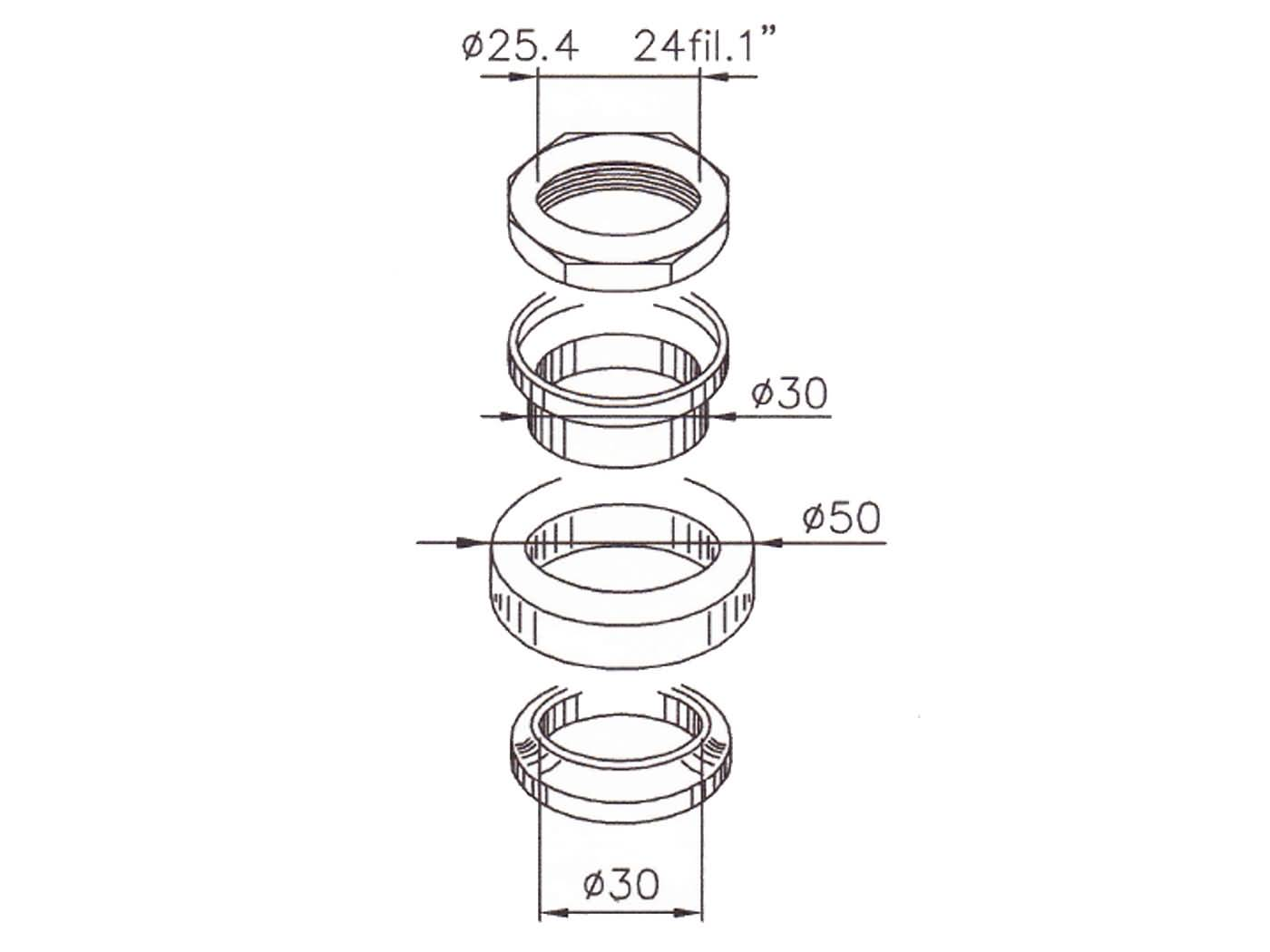 steering bearing set for Kymco People S 200, Sym Fiddle