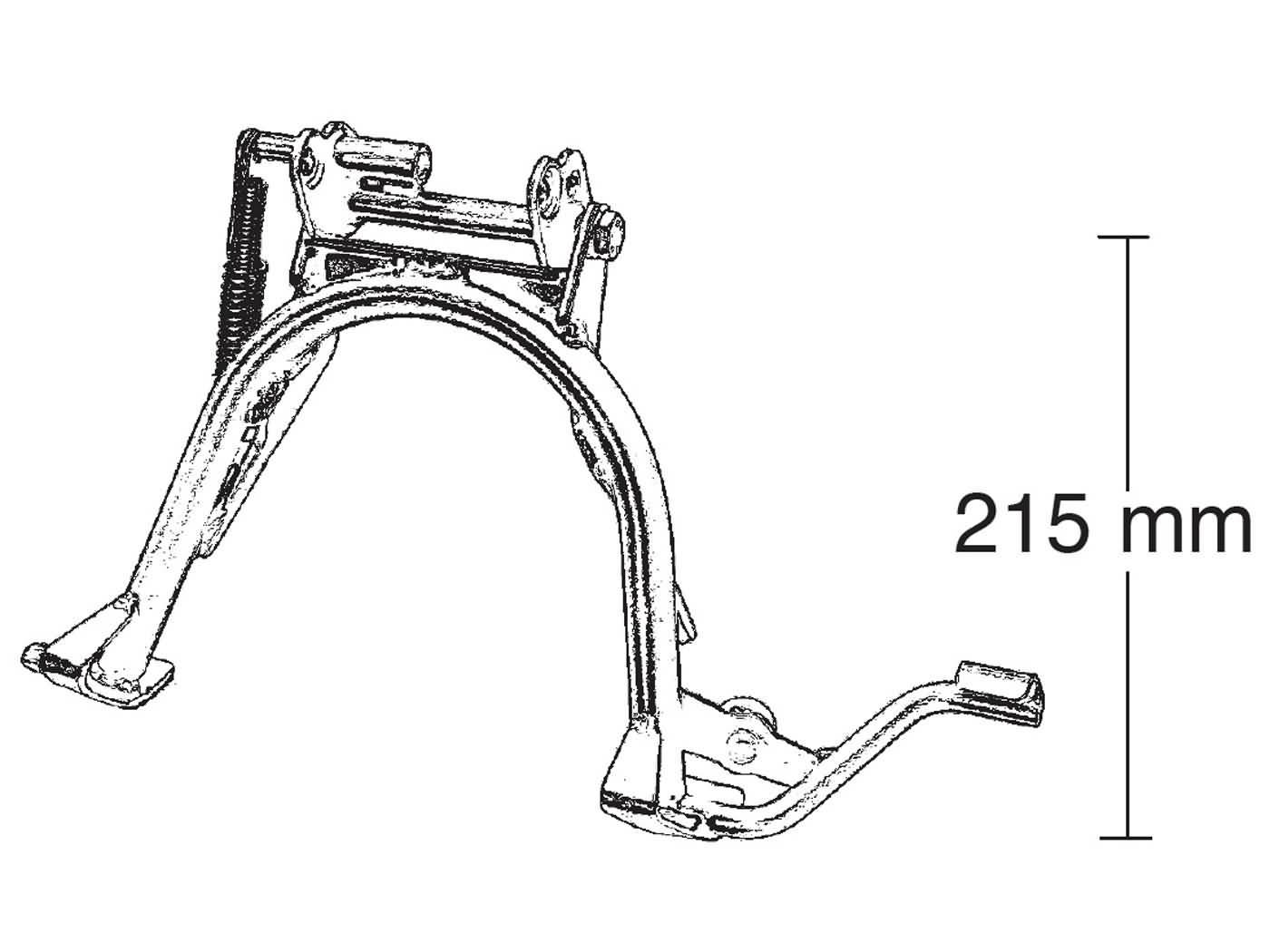 main stand repair kit Buzzetti for Aprilia SR50, MBK Nitro