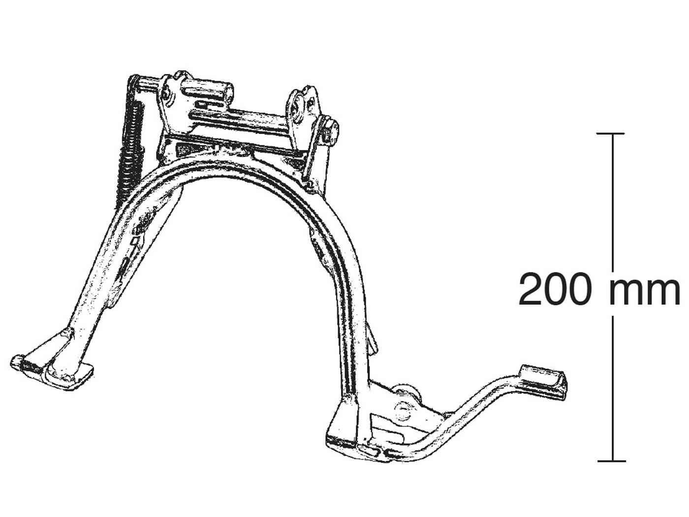 main stand repair kit Buzzetti for Malaguti F12, F15