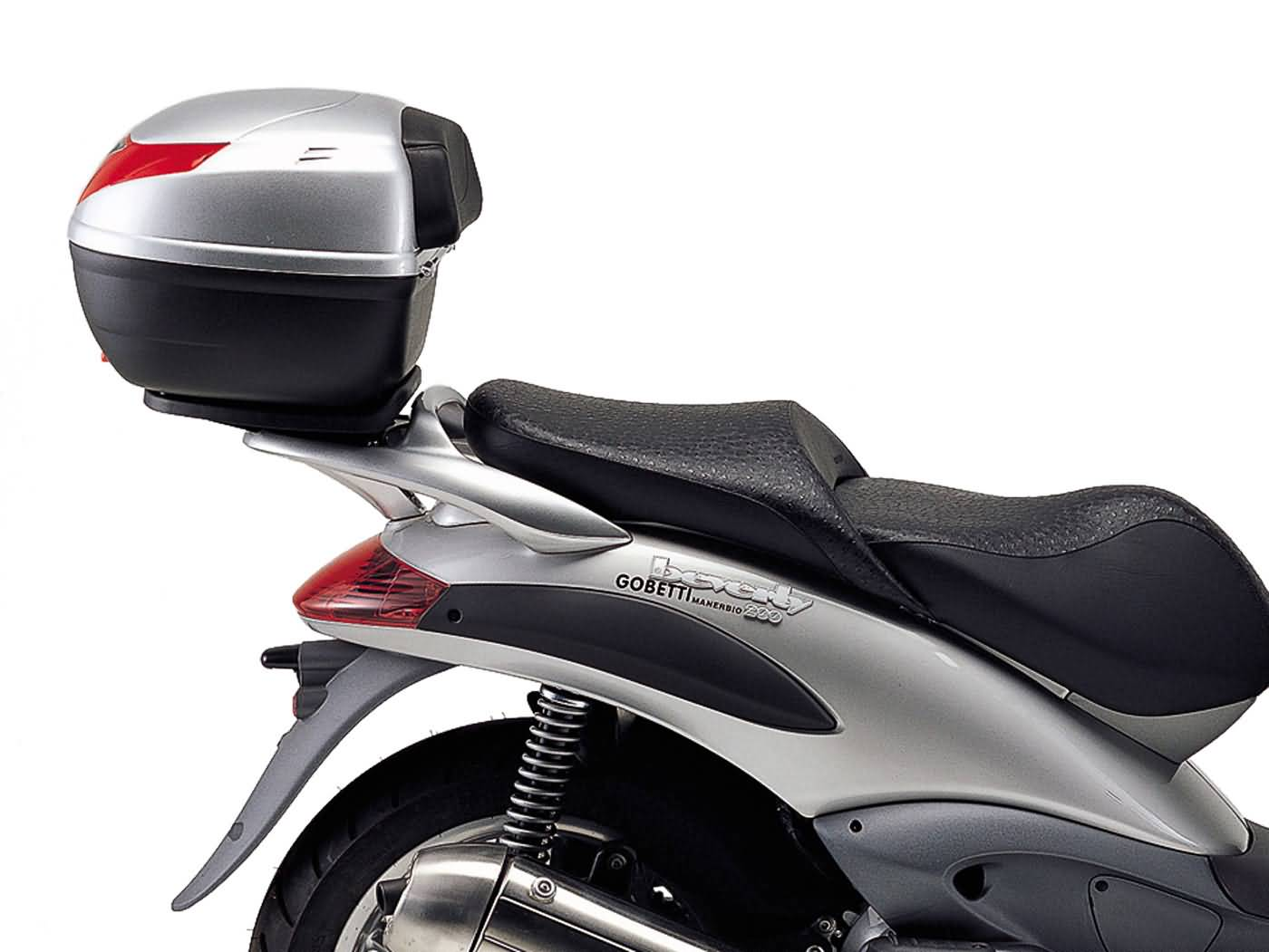 top case givi monolock scooter trunk mounting for piaggio beverly 125 250 500 01 04 scooter. Black Bedroom Furniture Sets. Home Design Ideas